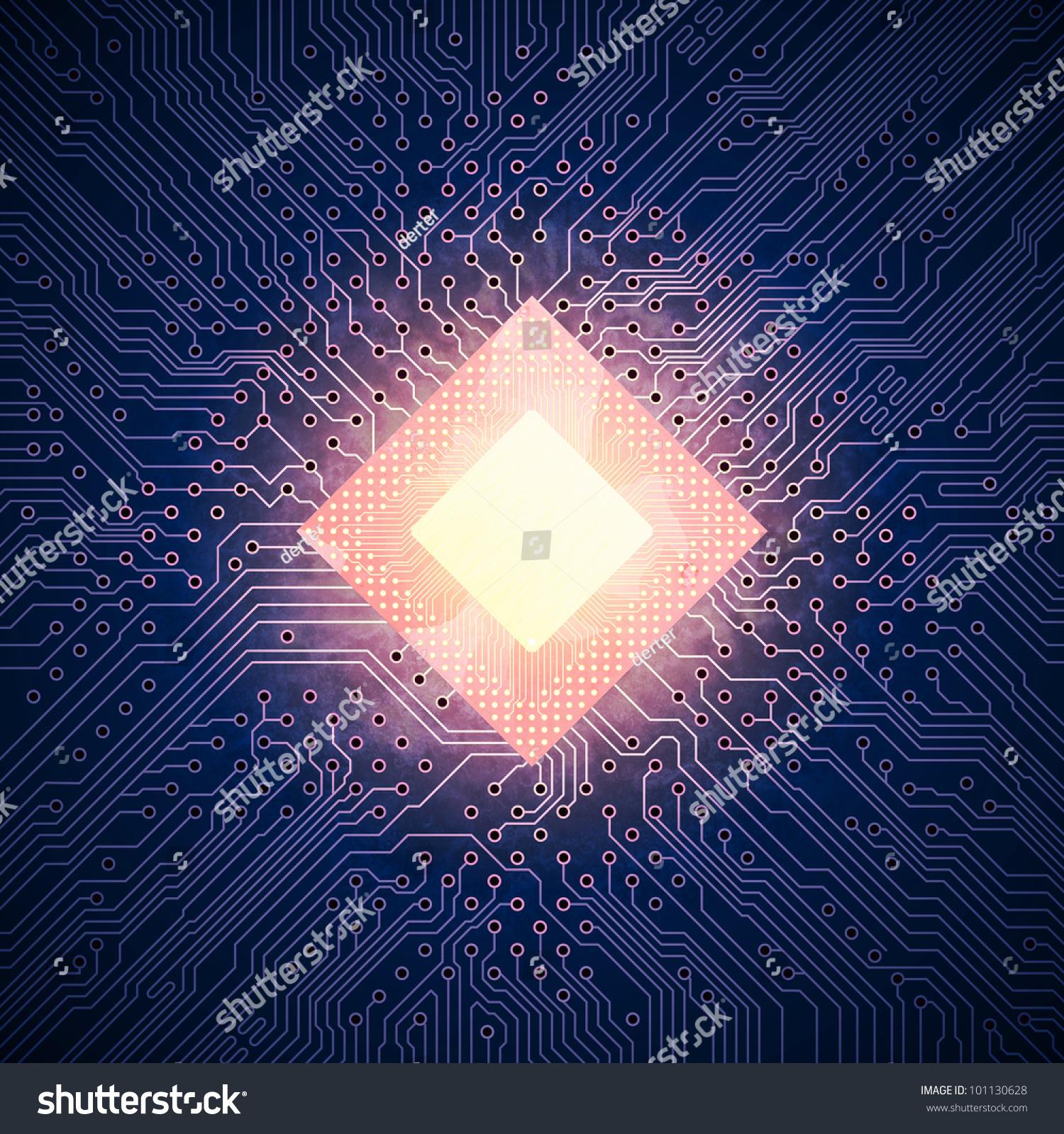 热的电脑芯片-科技,交通运输-海洛创意(hellorf)-中国
