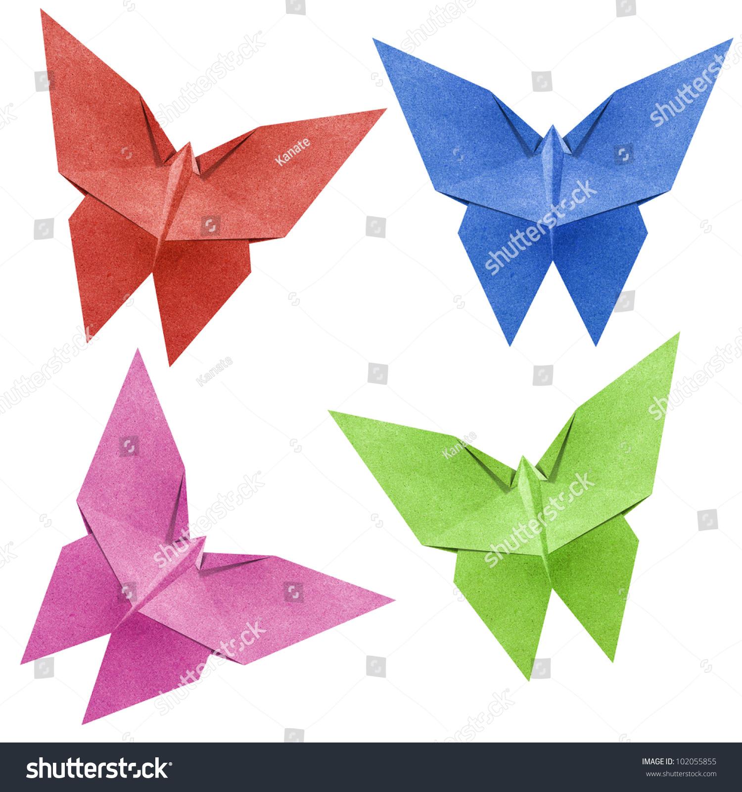 折纸蝴蝶用回收纸做的-动物/野生生物