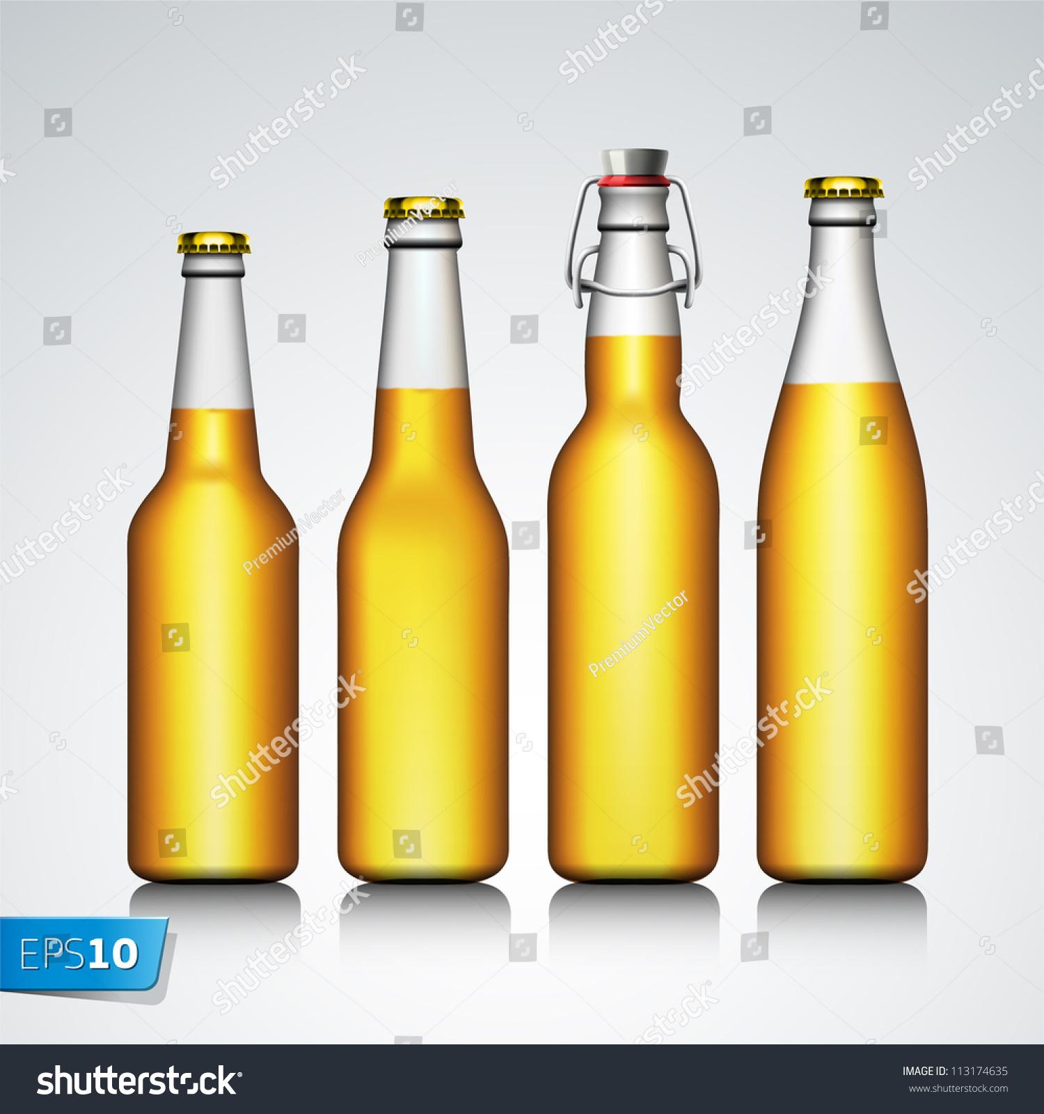 啤酒瓶明确没有标签,向量eps
