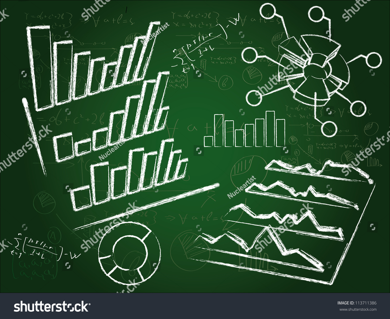 组业务图绘制的粉笔在黑板上图片