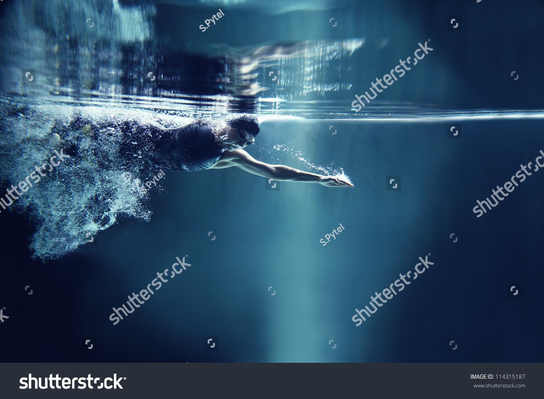 ppt素材 游泳
