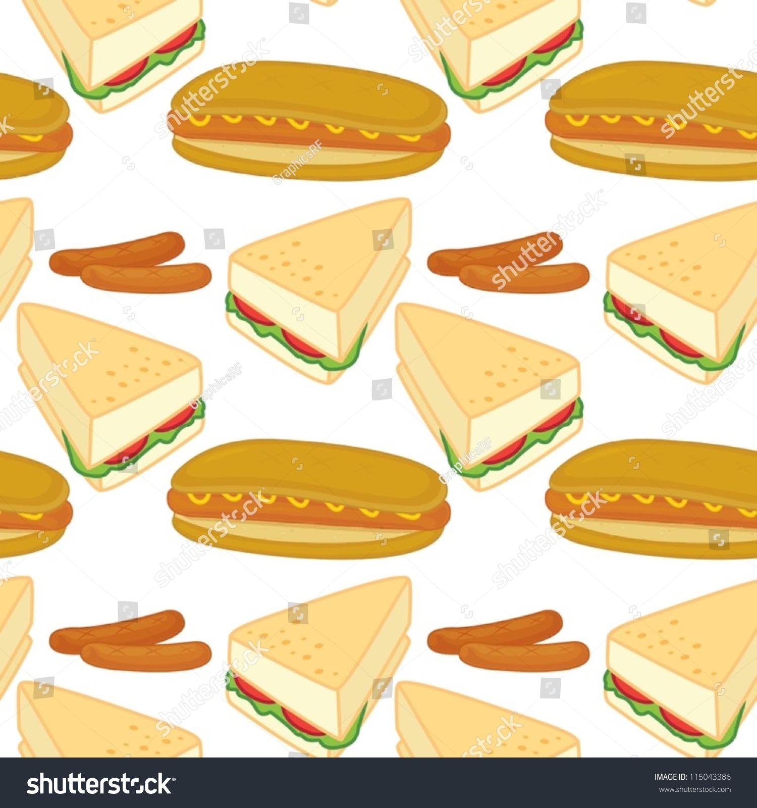 白色背景上的三明治-食品及饮料-海洛创意(hellorf)