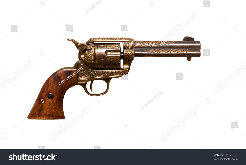 牛仔枪-物体,复古风格-海洛创意(hellorf)-中国独家-.