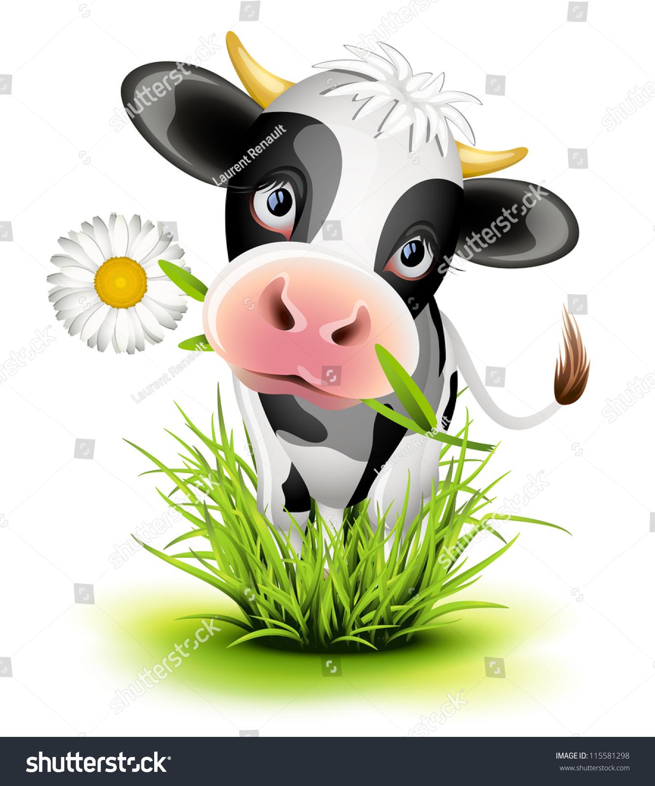 奶牛 ppt素材图