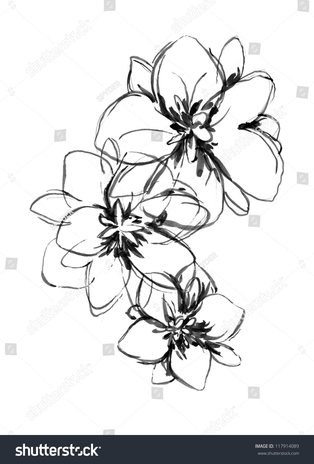花(手绘)-物体,自然-海洛创意(hellorf)-shutterstock