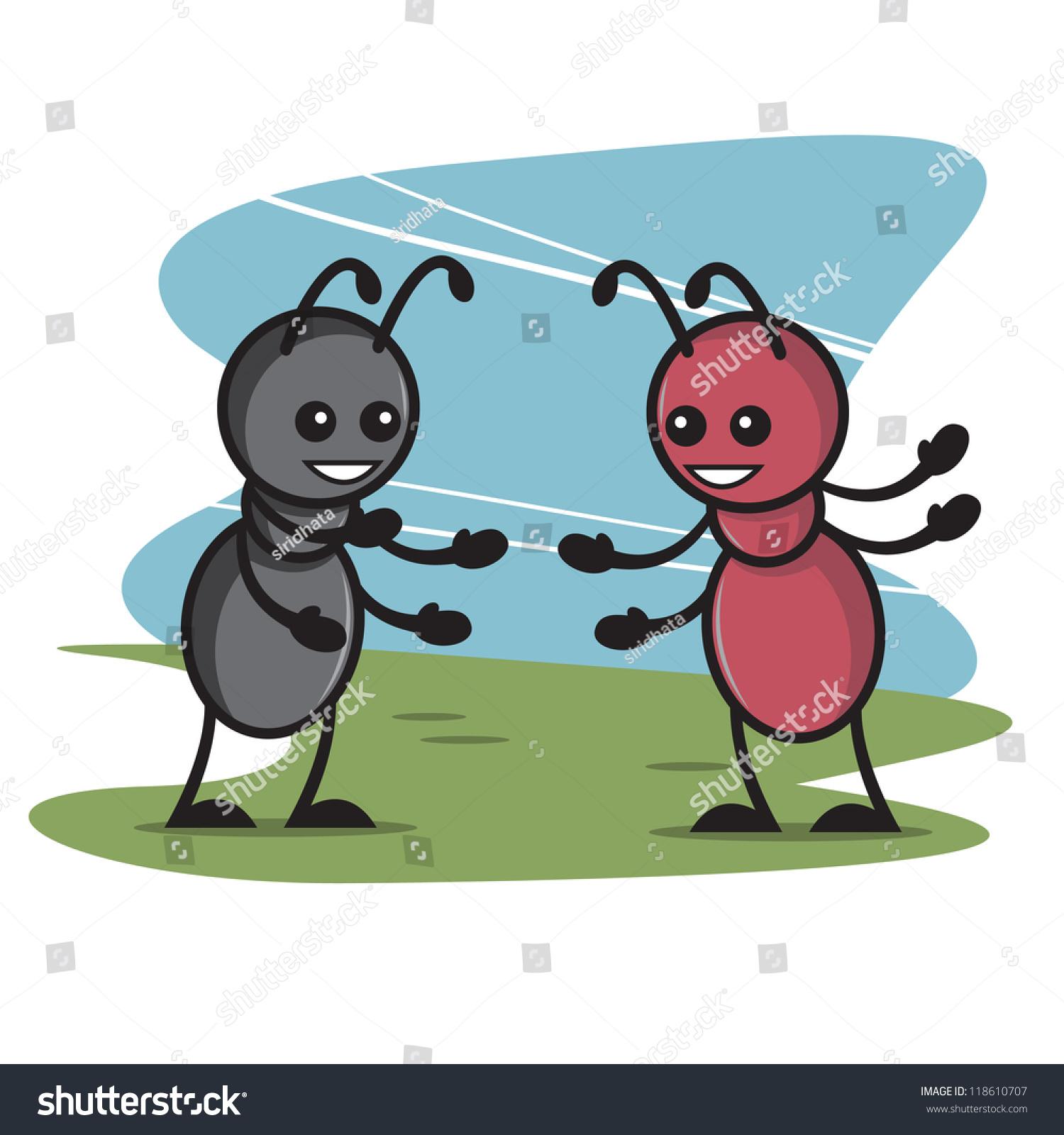 可爱的蚂蚁卡通5