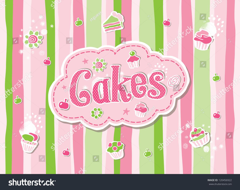 蛋糕标签涂鸦矢量设计-背景/素材,食品及饮料-海洛()