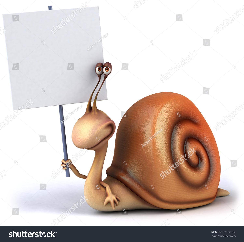 有趣的蜗牛-动物/野生生物