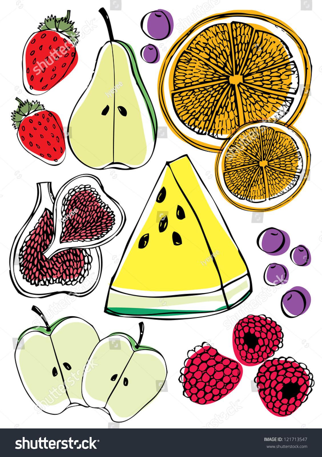 vector /水果图解