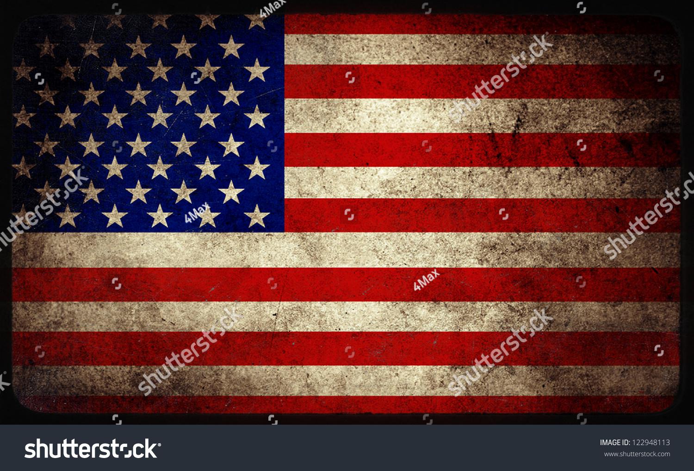 枯燥乏味的美国国旗背景-背景/素材,符号/标志-海洛()