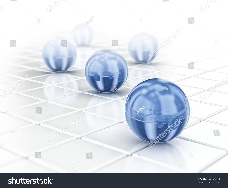 光滑的蓝色球体-背景/素材,商业/金融-海洛创意()-合.
