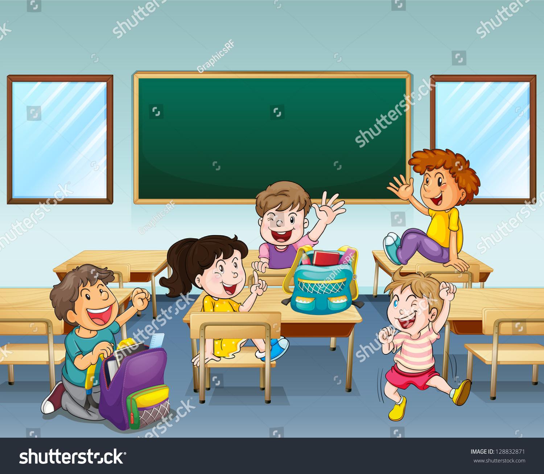 快乐的学生在一个教室-人物-海洛创意(hellorf)-中国