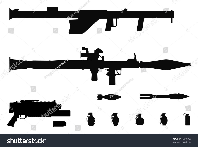 创意速写素材枪