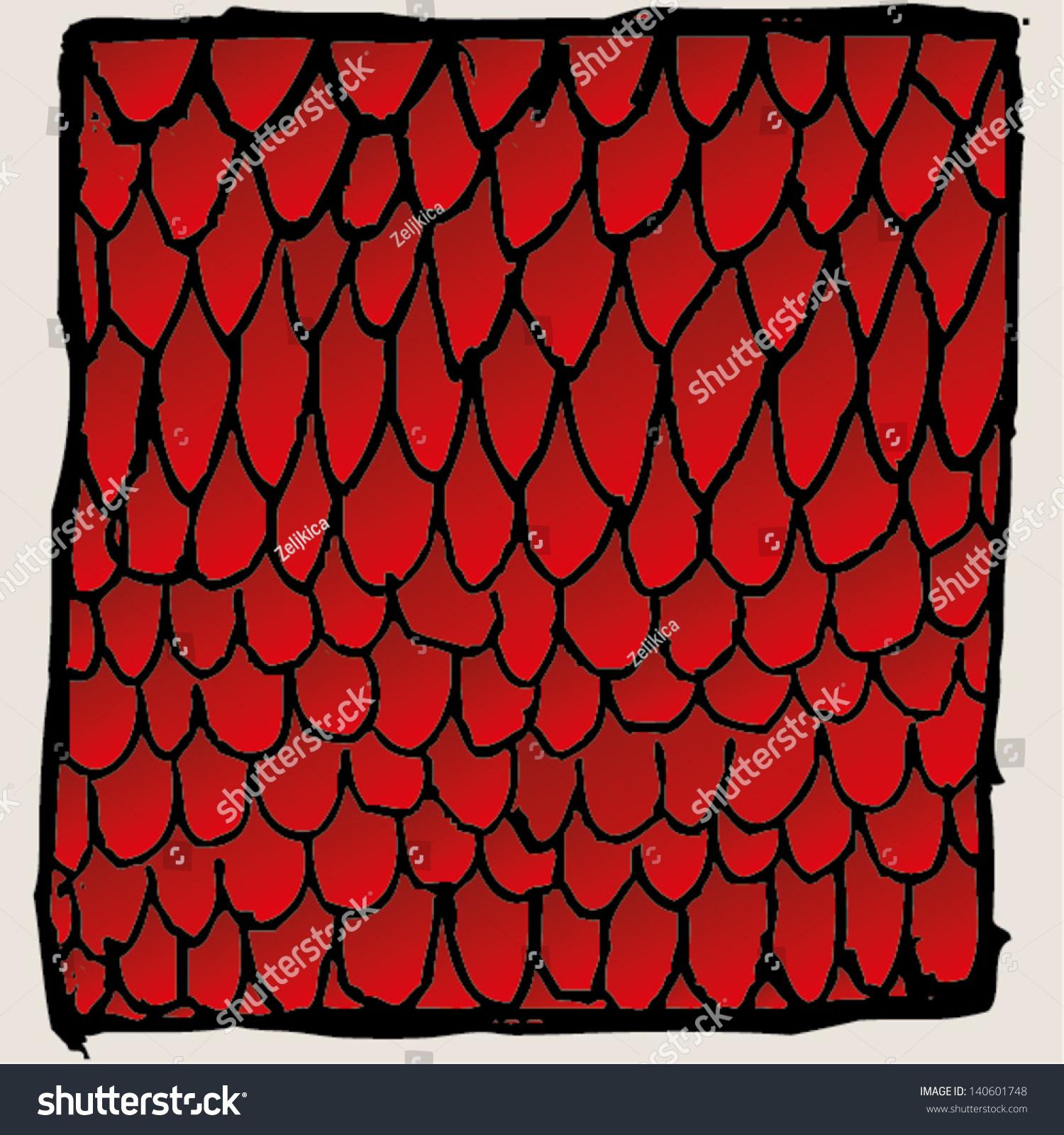 抽象屋顶瓦片图矢量图.红色.-背景/素材,抽象-海洛()
