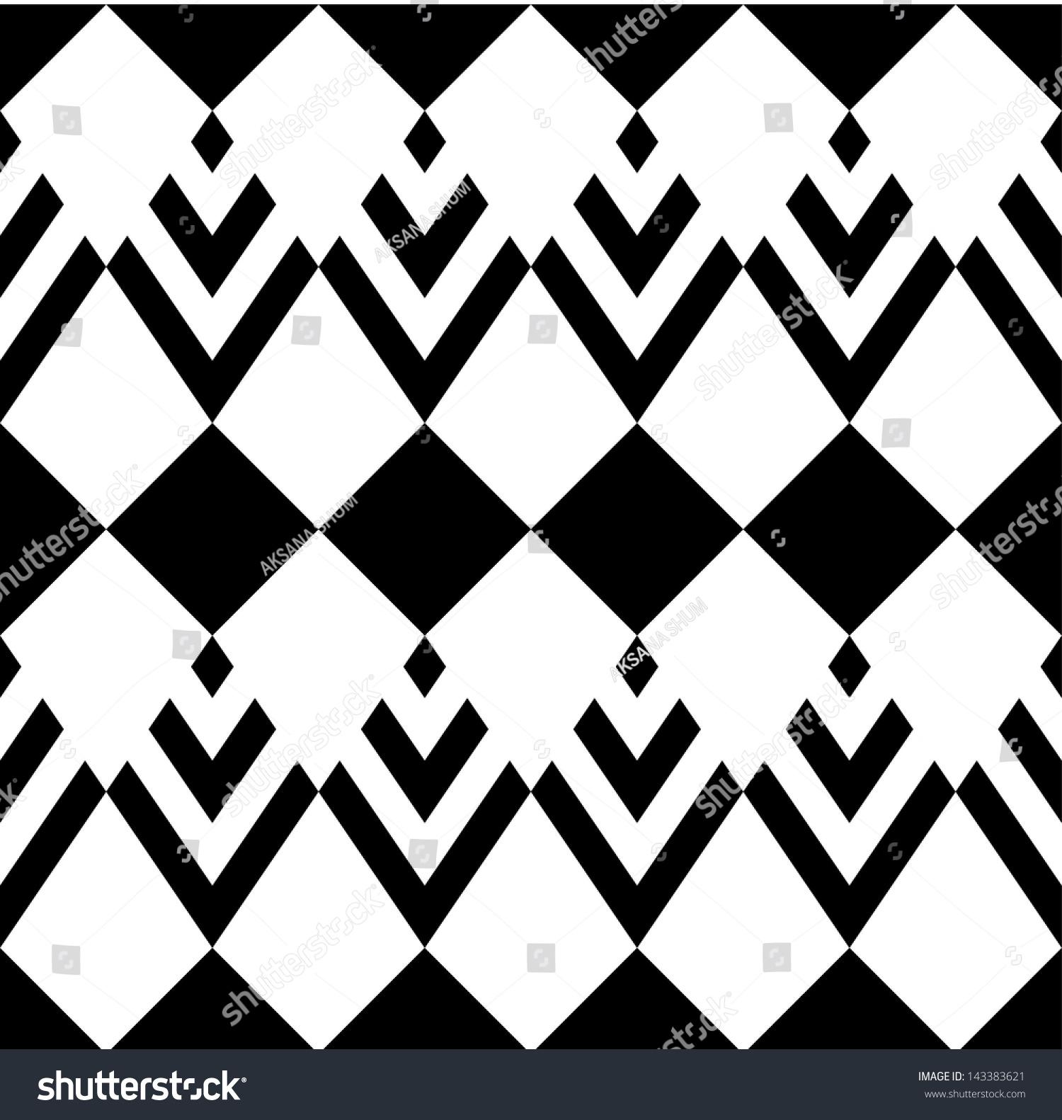 无缝向量几何图案-背景/素材