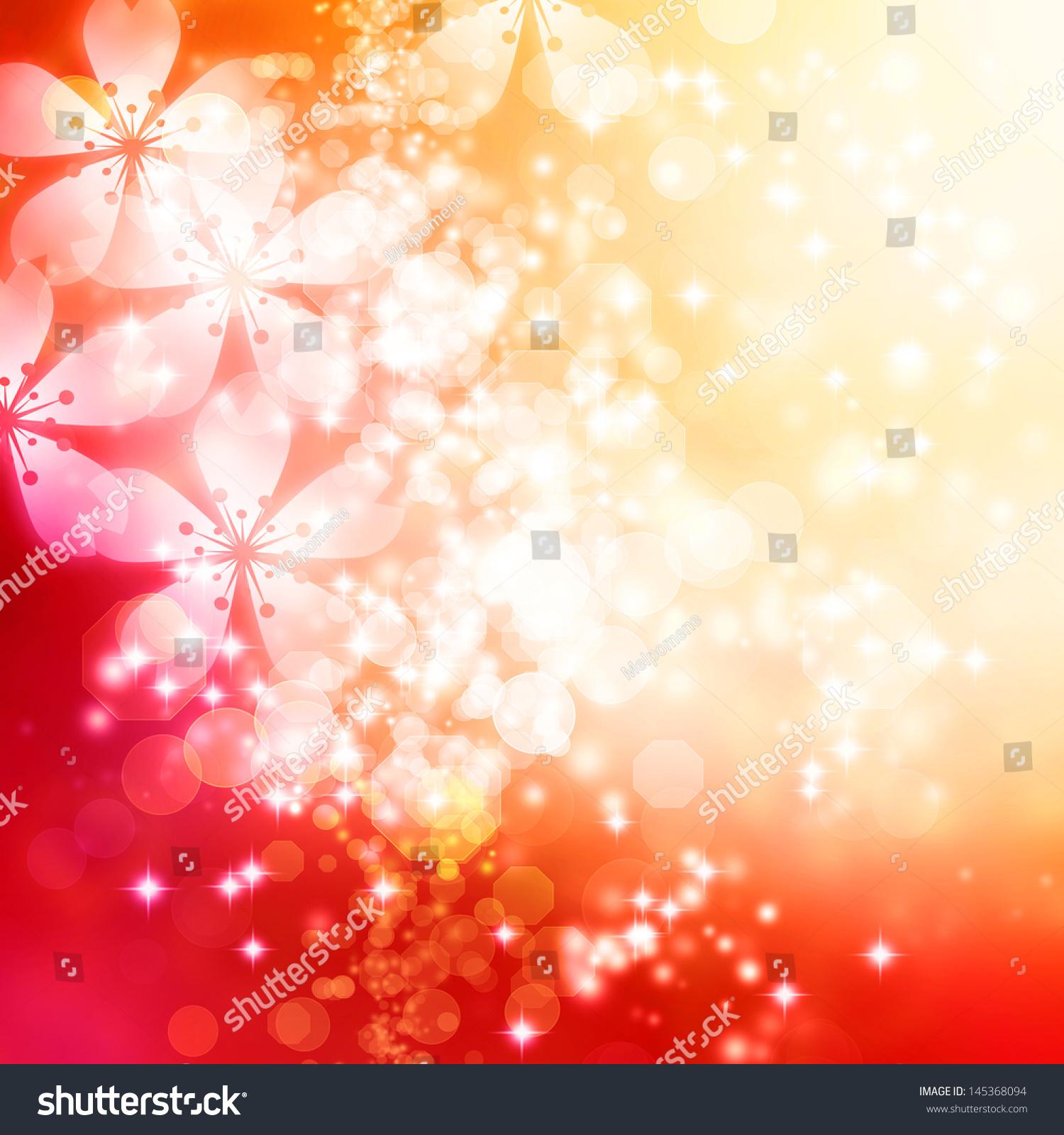 樱花在红色和橙色渐变背景-背景/素材-海洛创意()-合