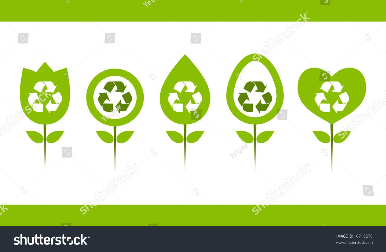 绿色回收标志设计.-插图/剪贴图,符号/标志-海洛创意