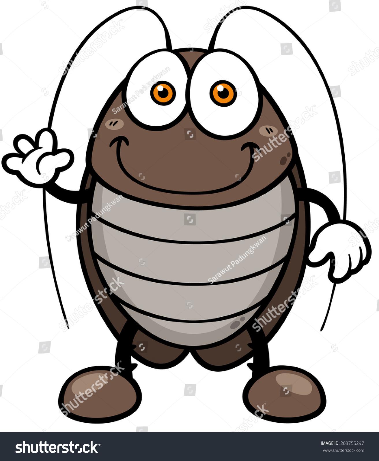 矢量图的卡通蟑螂-动物/野生生物,自然-海洛创意()-合