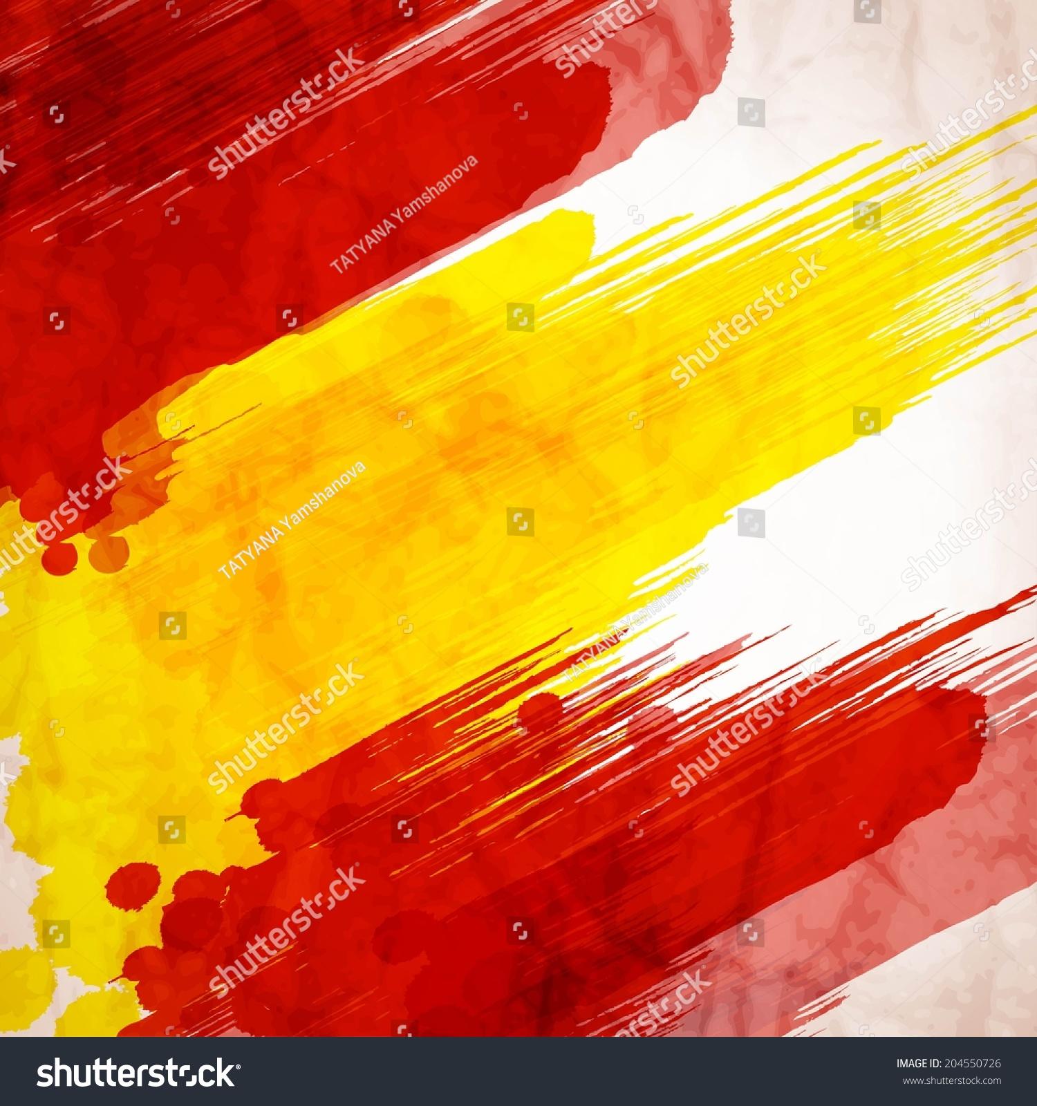 西班牙国旗的色彩鲜艳的色斑-背景/素材