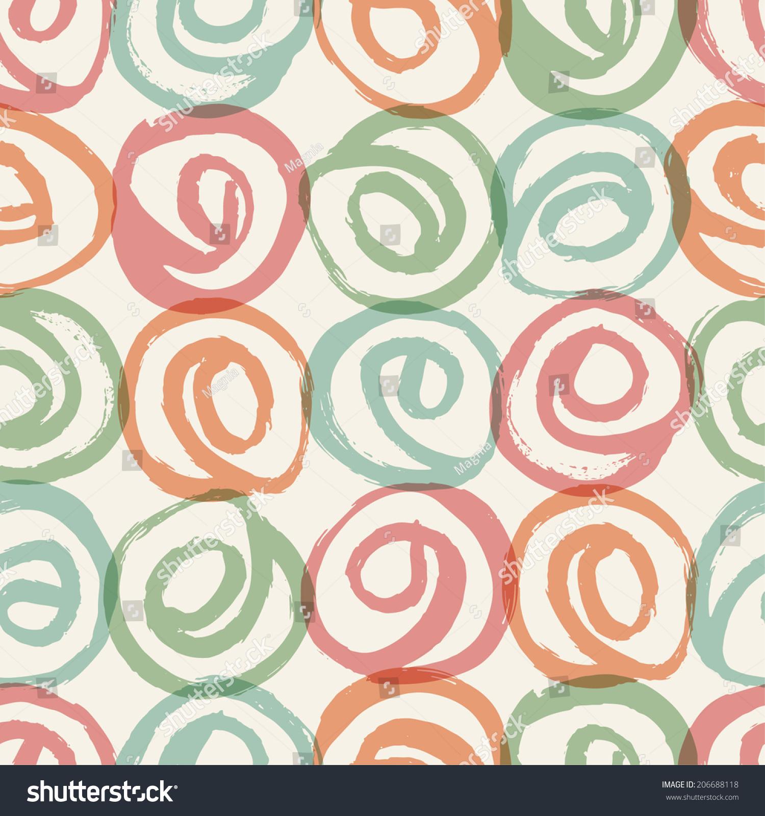 无缝彩色手绘图.矢量插图-背景/素材,抽象-海洛创意()