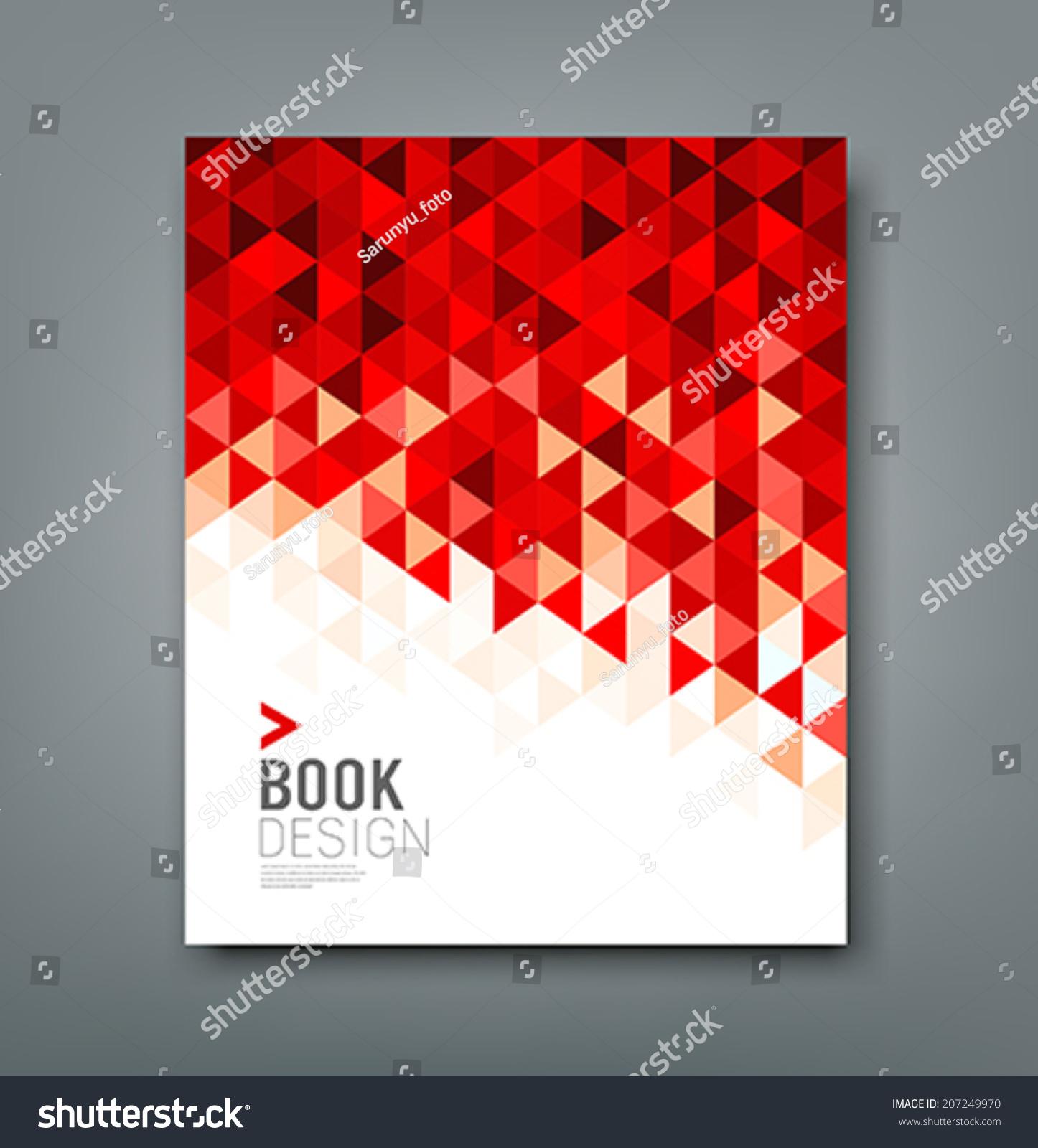 覆盖报告红色三角形几何图案设计背景