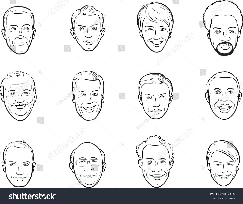 白板上画卡通《阿凡达》微笑男人的面孔