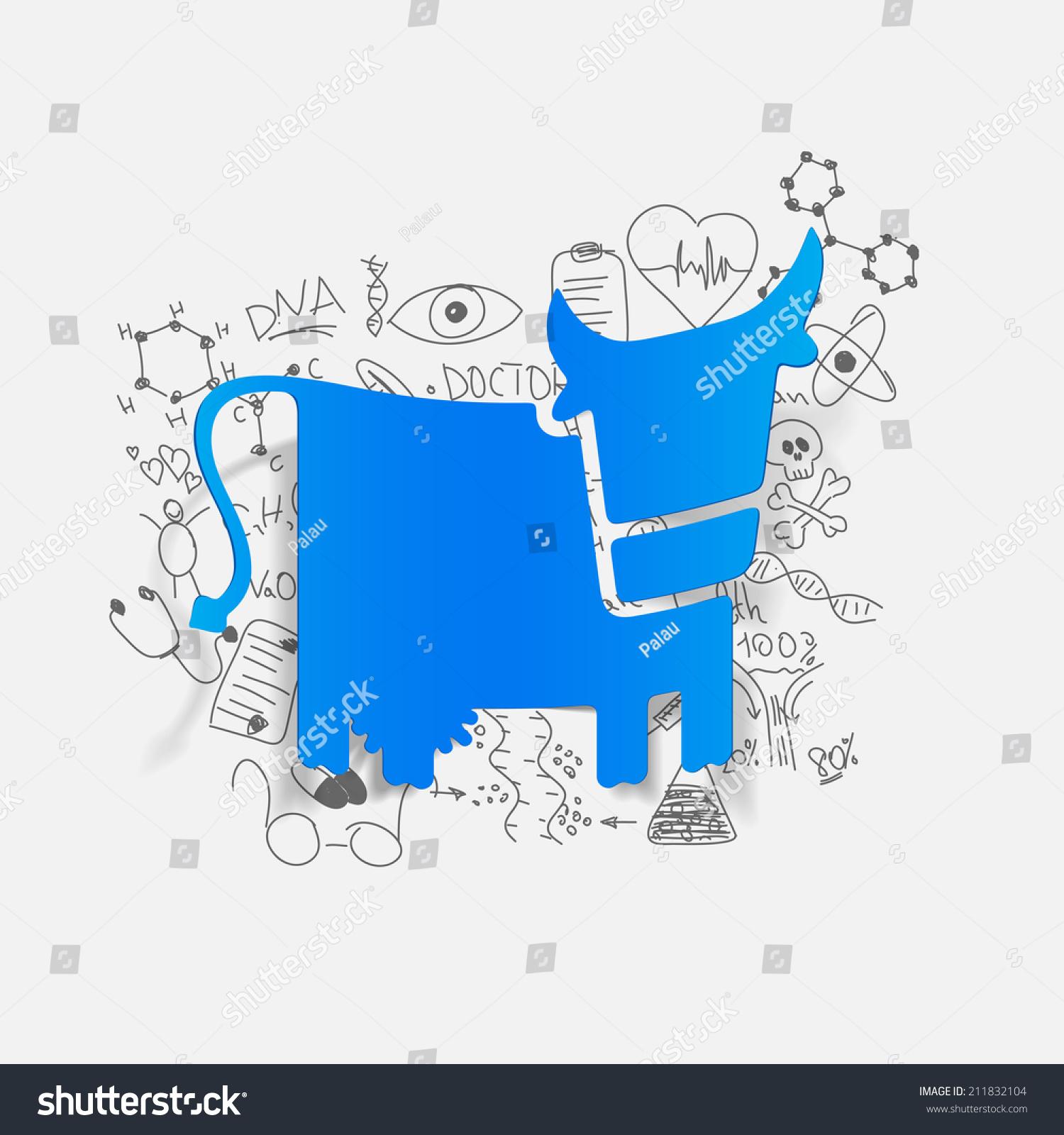 绘制医学公式:牛-动物/野生生物