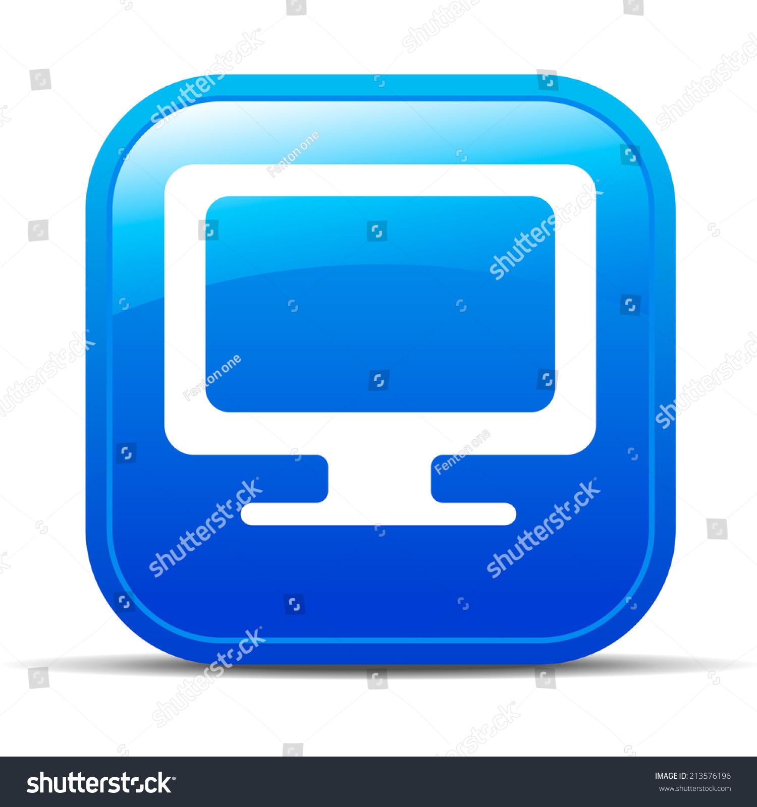电脑电视互联网按钮图标应用程序-栅格版-符号/标志