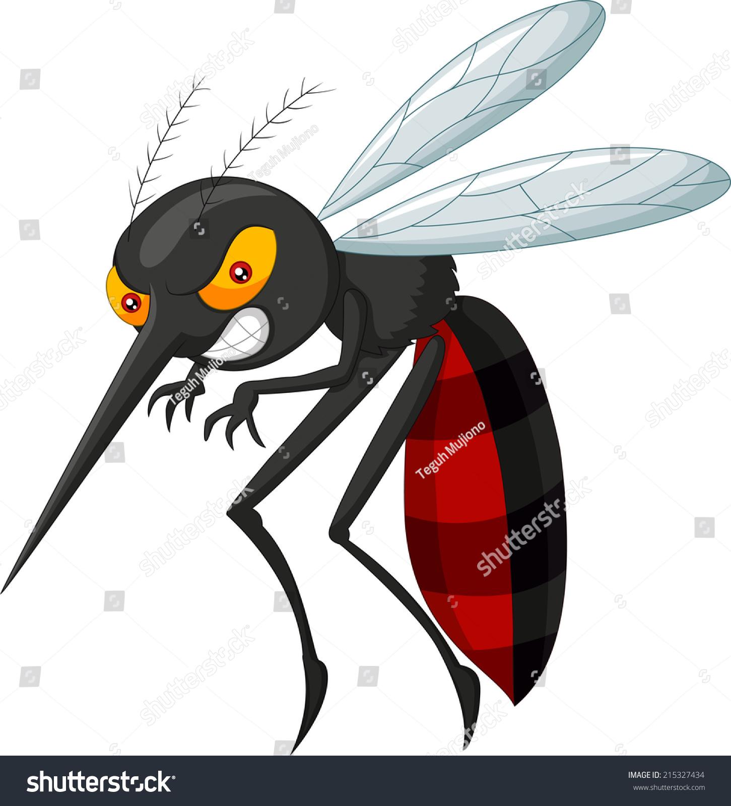 愤怒的蚊子卡通-动物/野生生物-海洛创意(hellorf)
