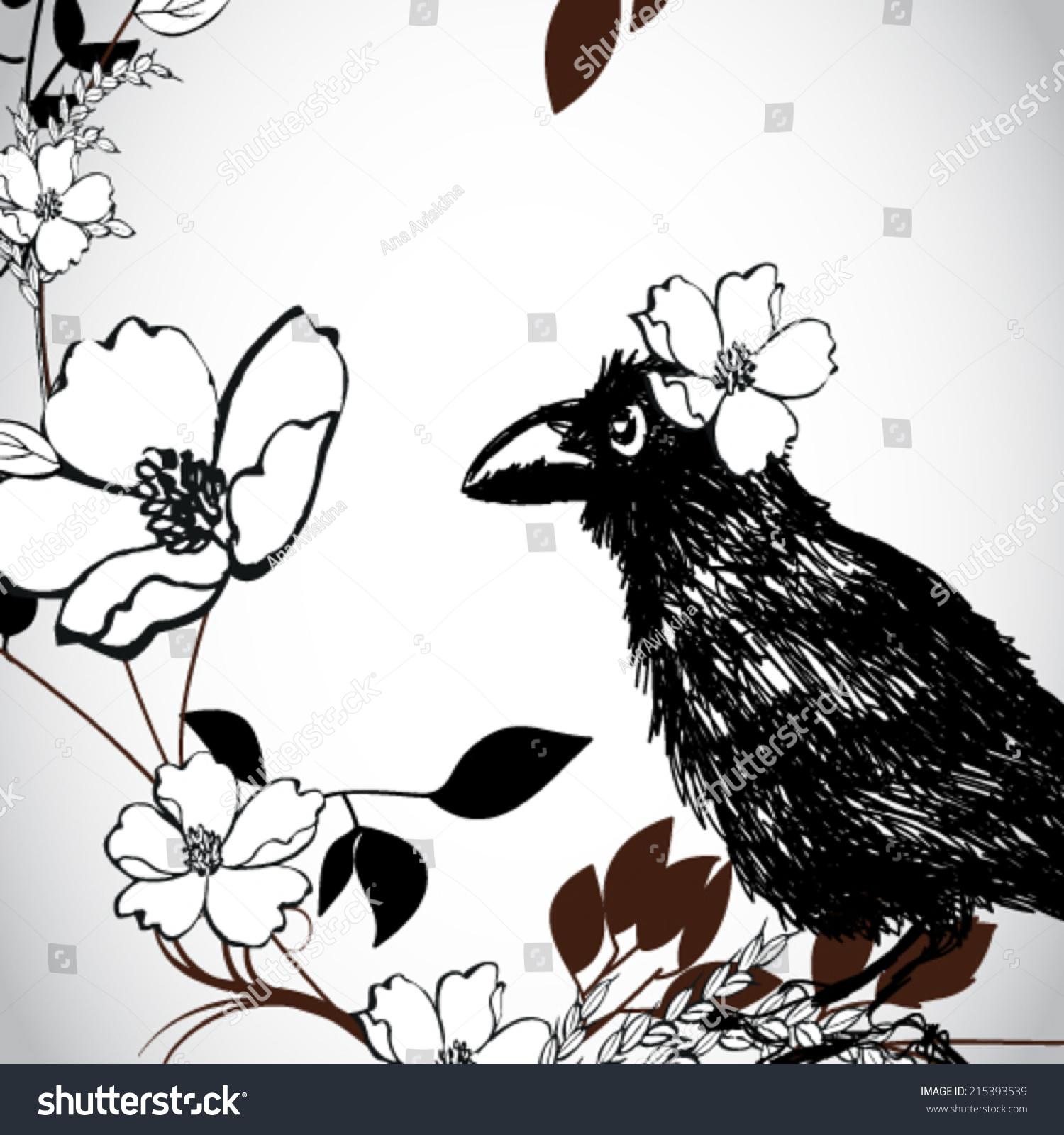 ppt乌鸦动物边框