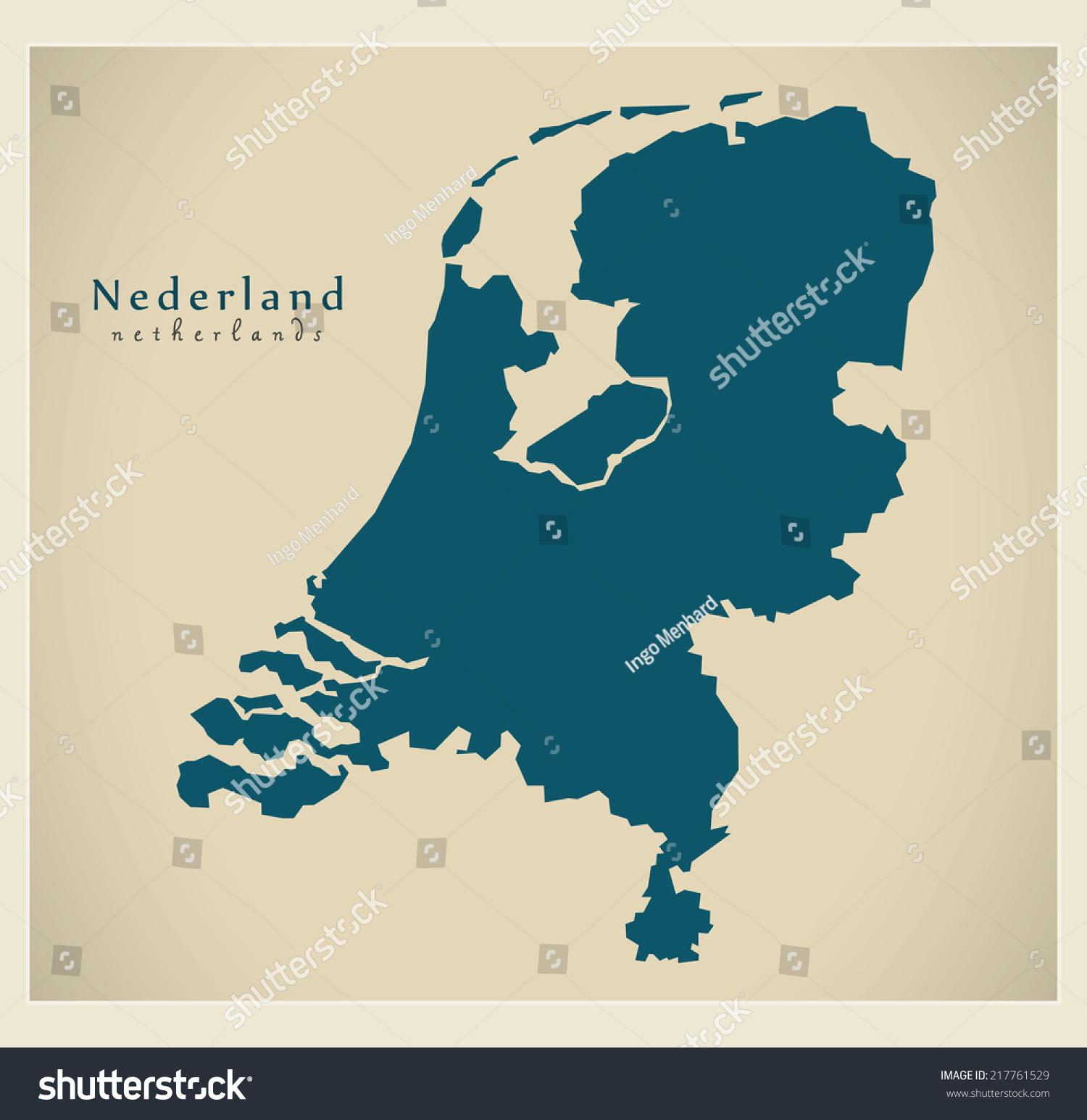 现代地图——荷兰问-符号/标志,抽象-海洛创意()-中国