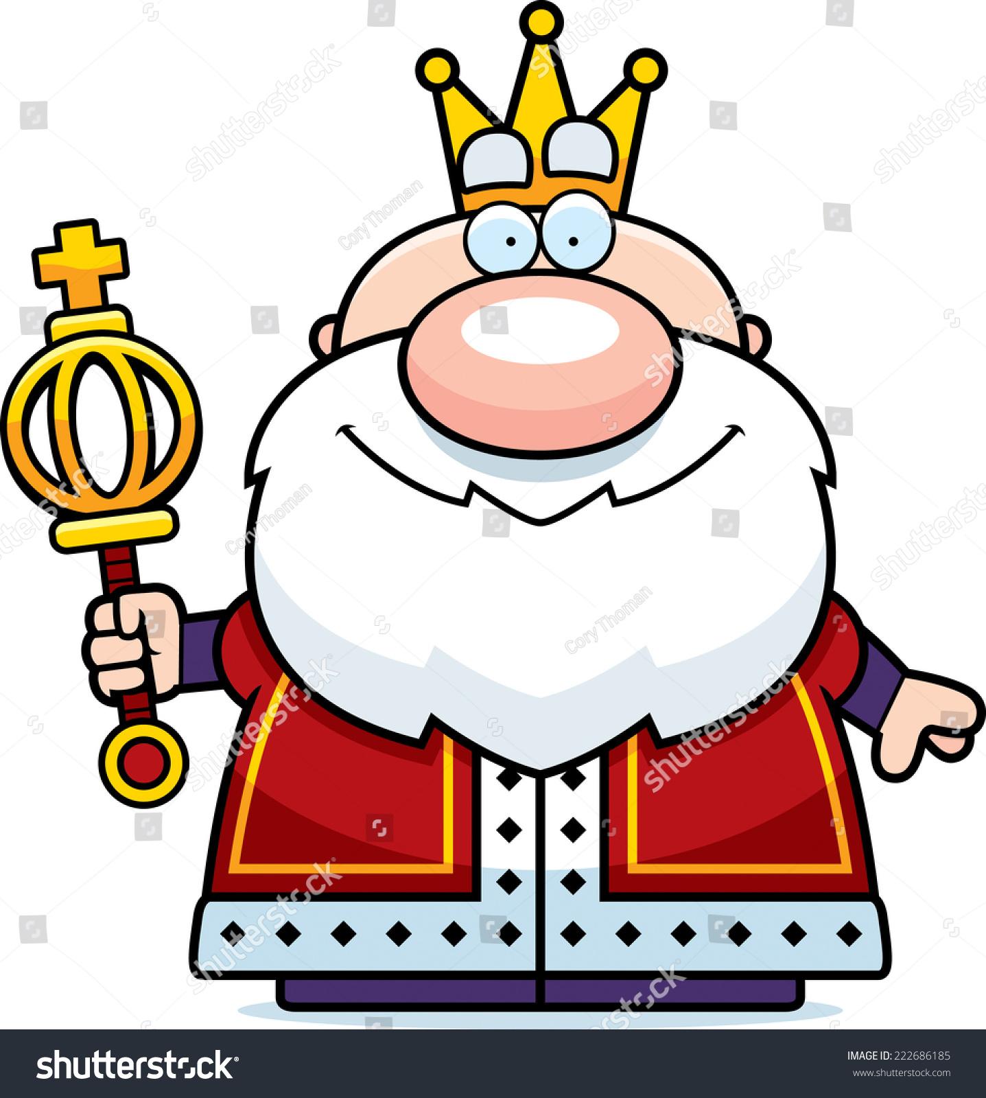 的卡通插图国王权杖.