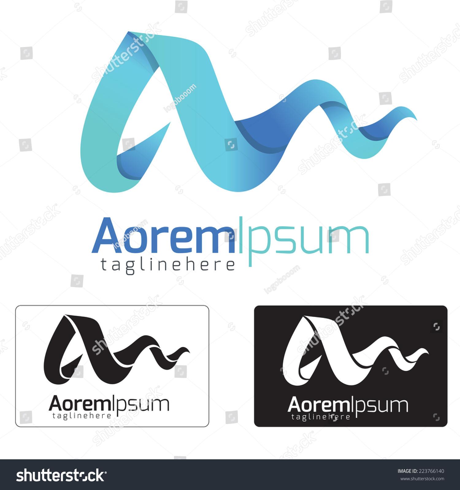 字母标志设计的概念.字母a.-符号/标志,抽象-海洛创意