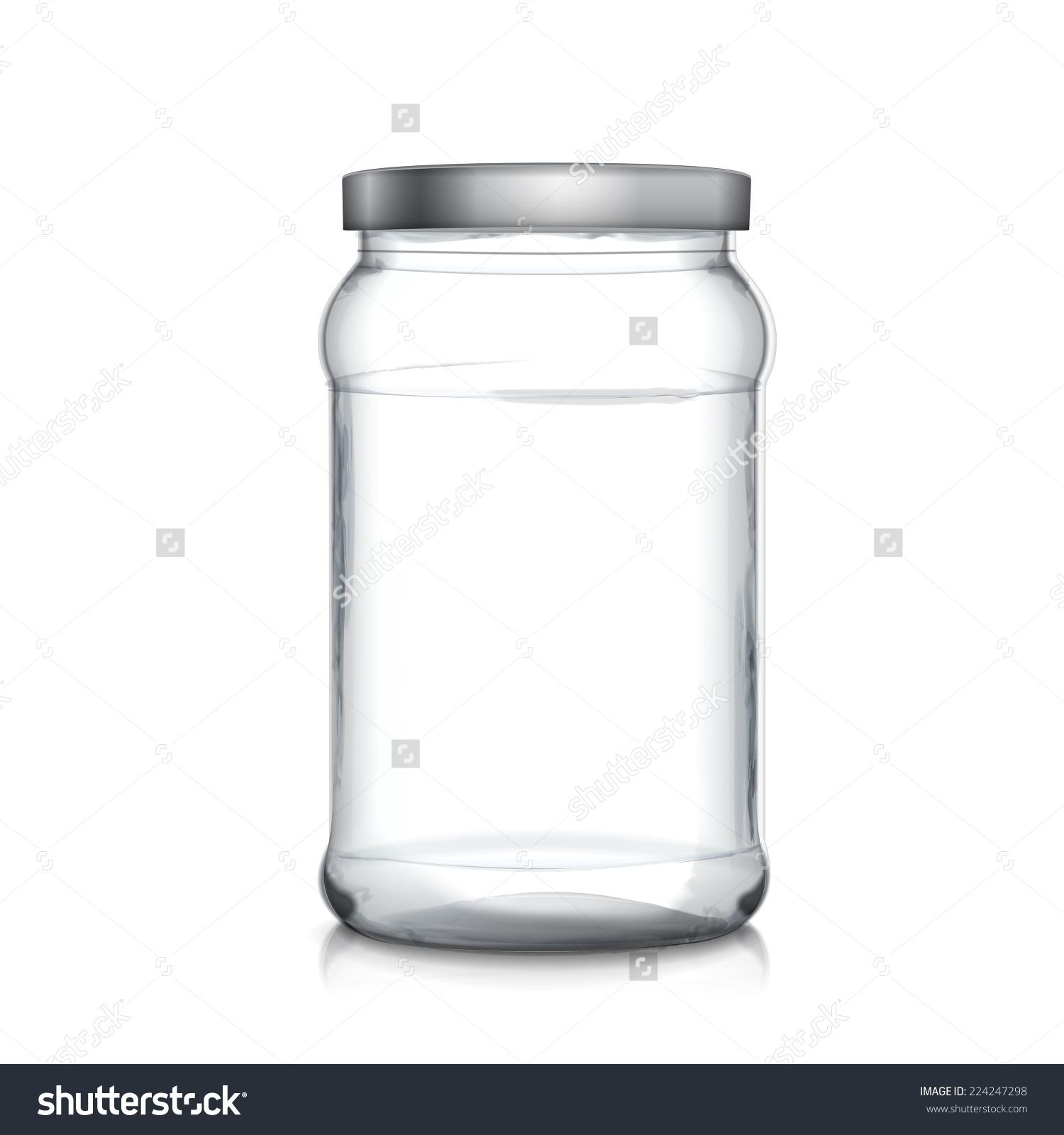白色背景上的空玻璃瓶-背景/素材,物体-海洛创意()-合