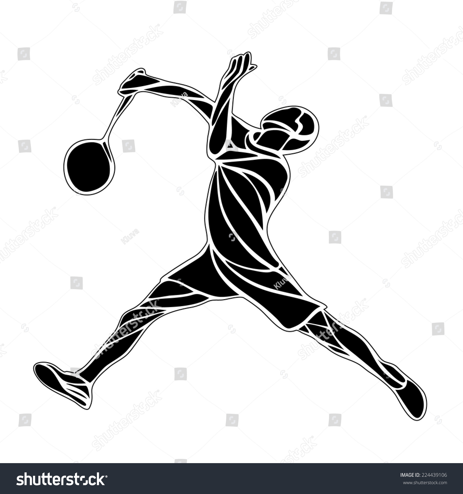 羽毛球运动员-人物,运动/娱乐活动-海洛创意(hellorf)