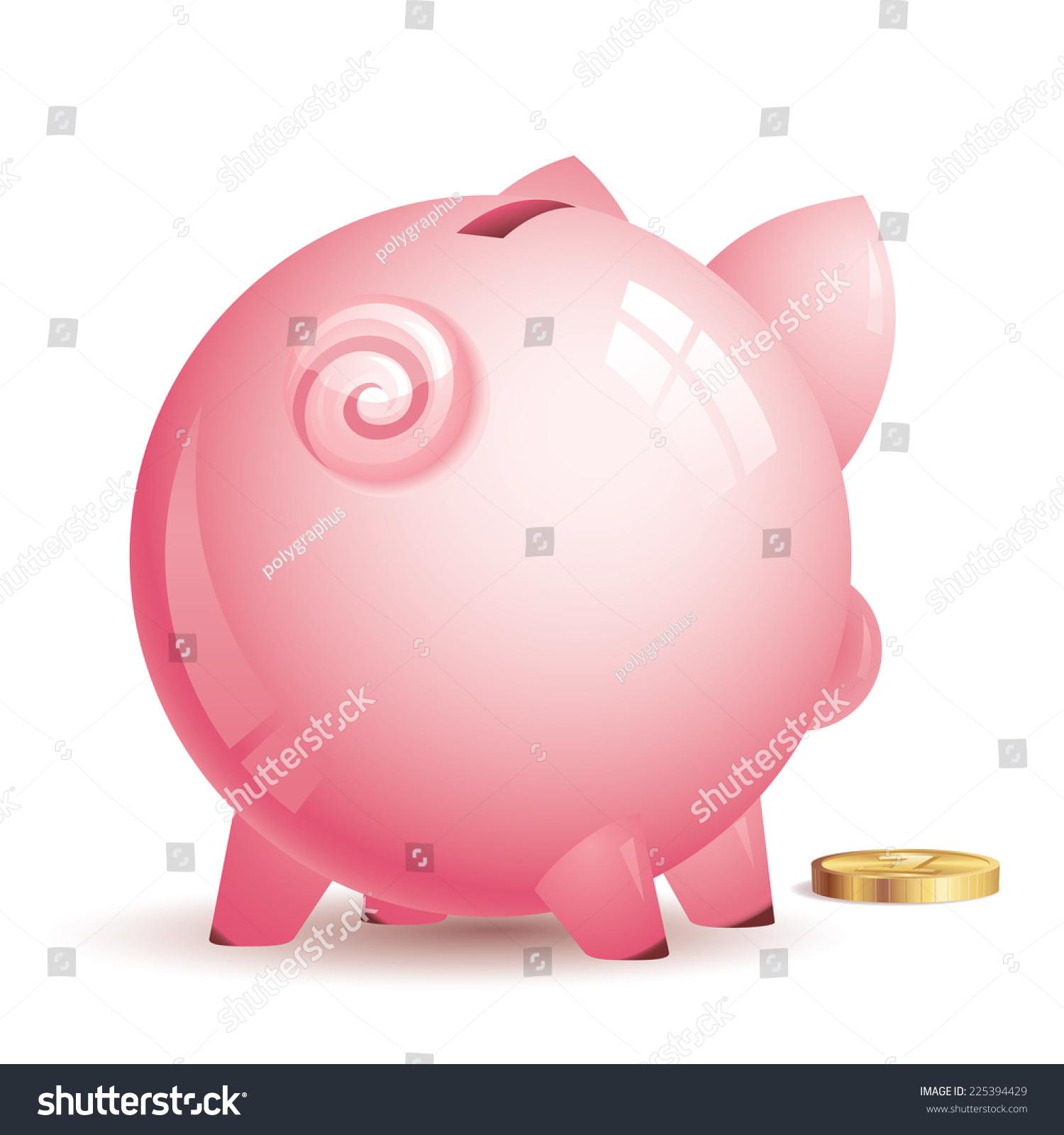 带金币的粉红色存钱罐.eps8.cmyk.按层次组织.全球.