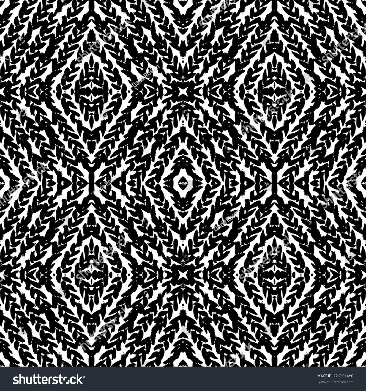 手绘模式与手绘的辫子,笔触,墨水痕迹,锯齿形线。枯燥乏味的向量与种族和部落无缝纹理图案在秋季冬季时尚黑白颜色 - 背景/素材,抽象 - 站酷海洛创意正版图片,视频,音乐素材交易平台 - Shutterstock中国独家合作伙伴 - 站酷旗下品牌