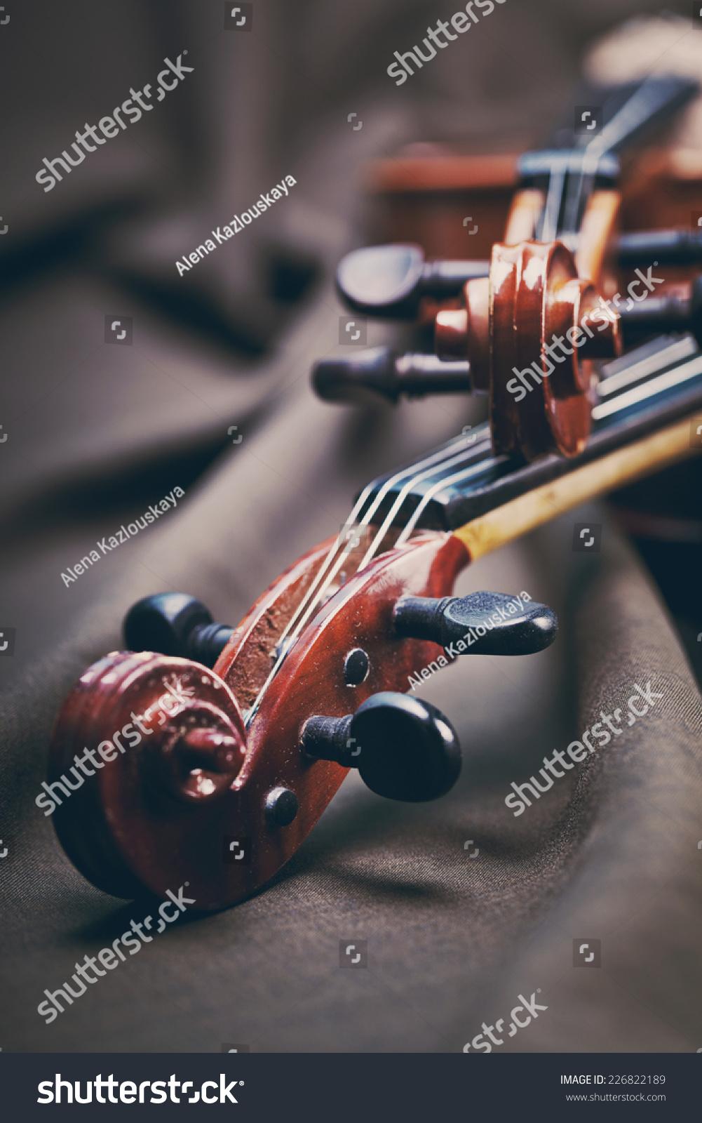 古典音乐小提琴古董关闭-背景/素材,艺术-海洛创意()