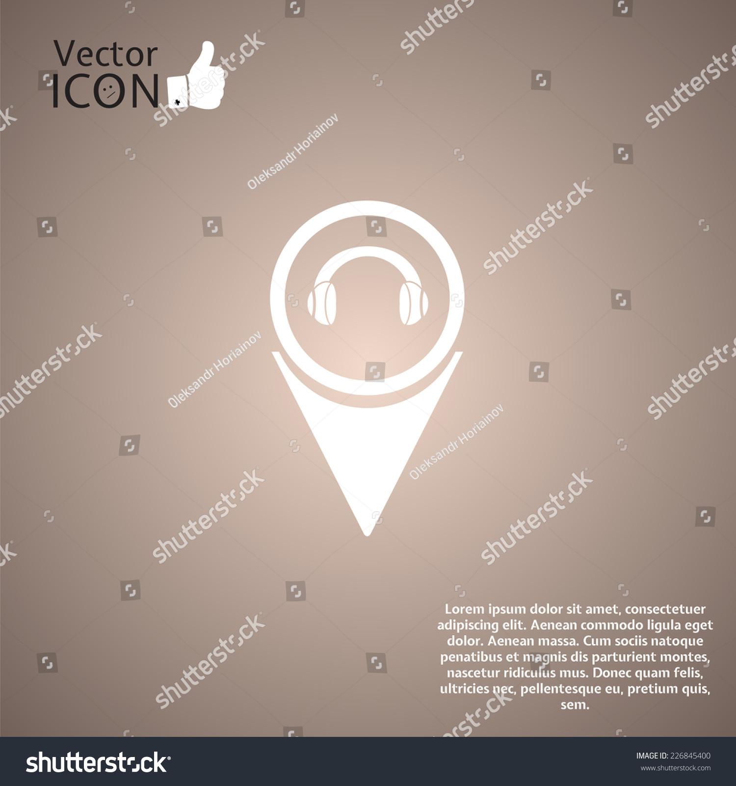 耳机图标——矢量地图指针.-背景/素材,抽象-海洛创意