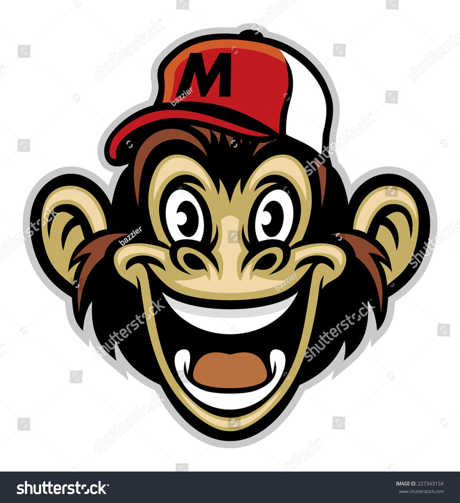 卡通的猴子的脸-动物/野生生物-海洛创意(hellorf)--.