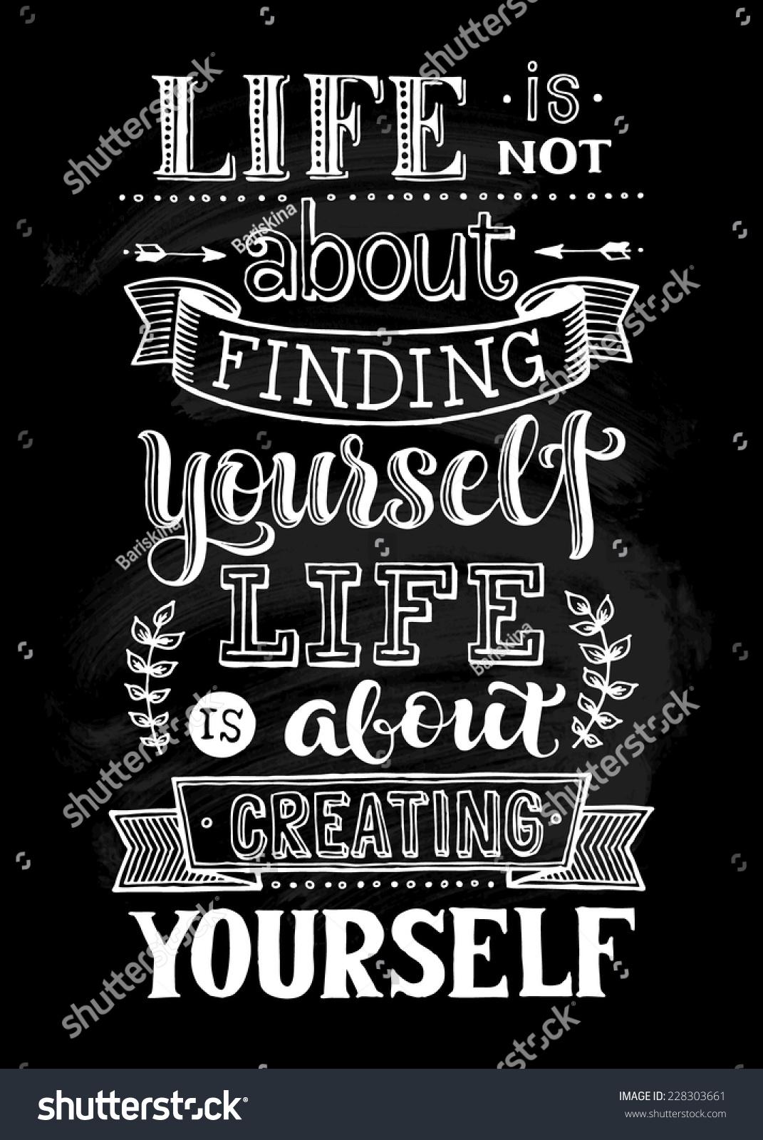 用手画的矢量插图.生活不是要找到你自己图片