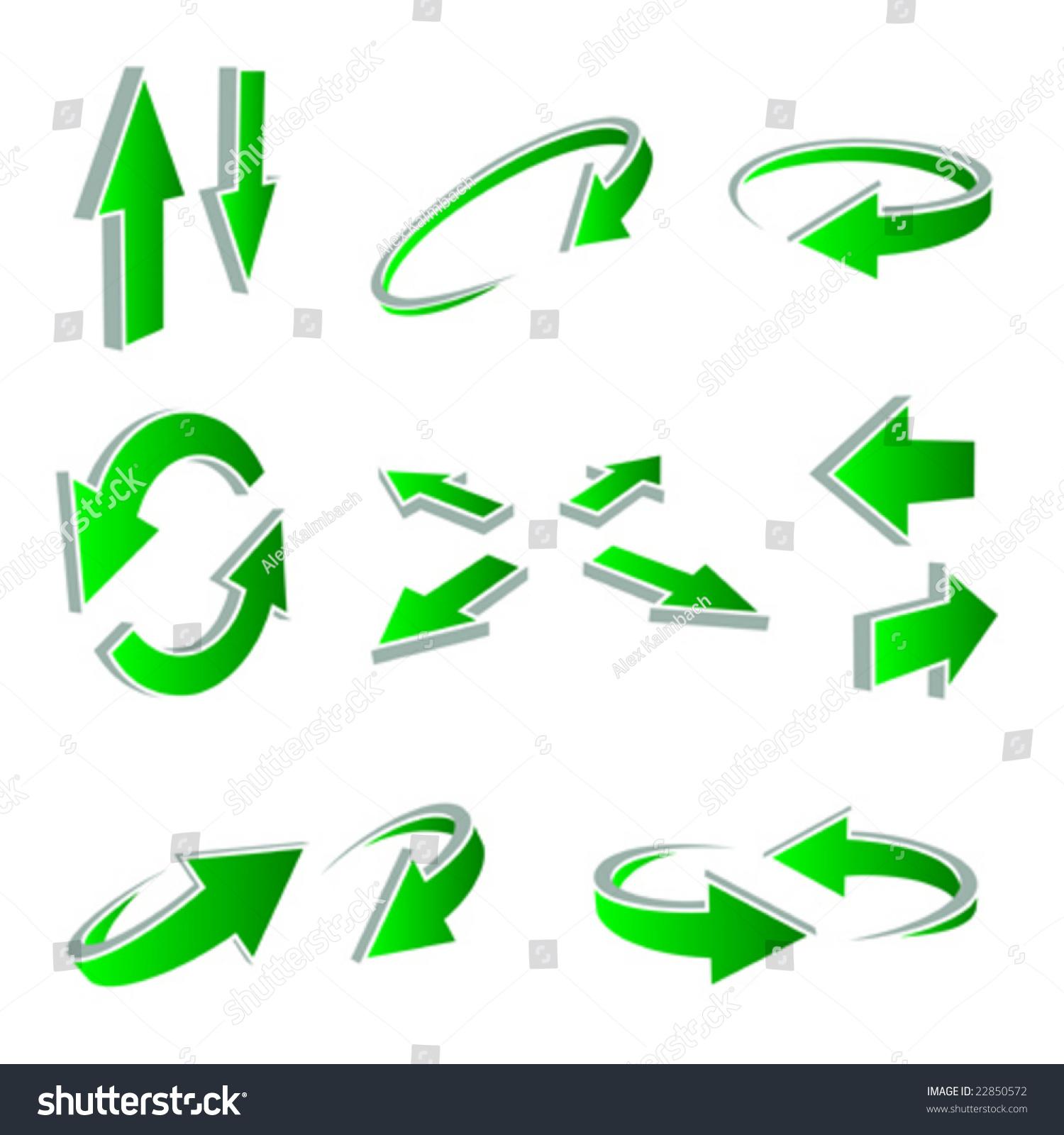 一组向量有用的箭头.-插图/剪贴图,符号/标志-海洛()