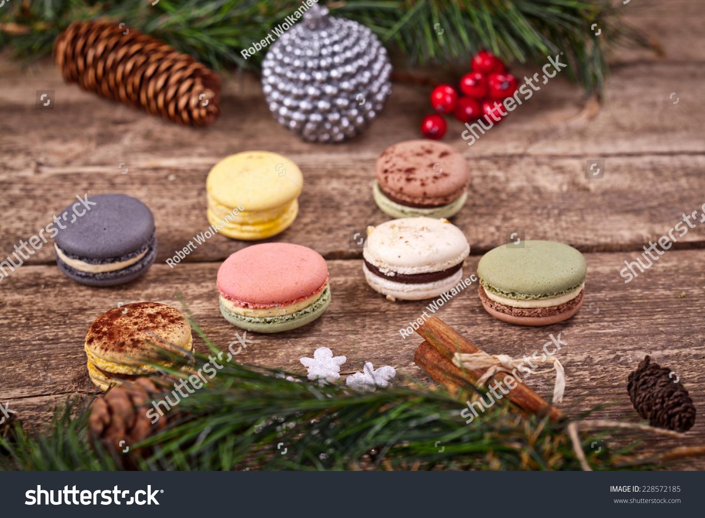 圣诞节的马卡龙-背景/素材,食品及饮料-海洛创意()-合