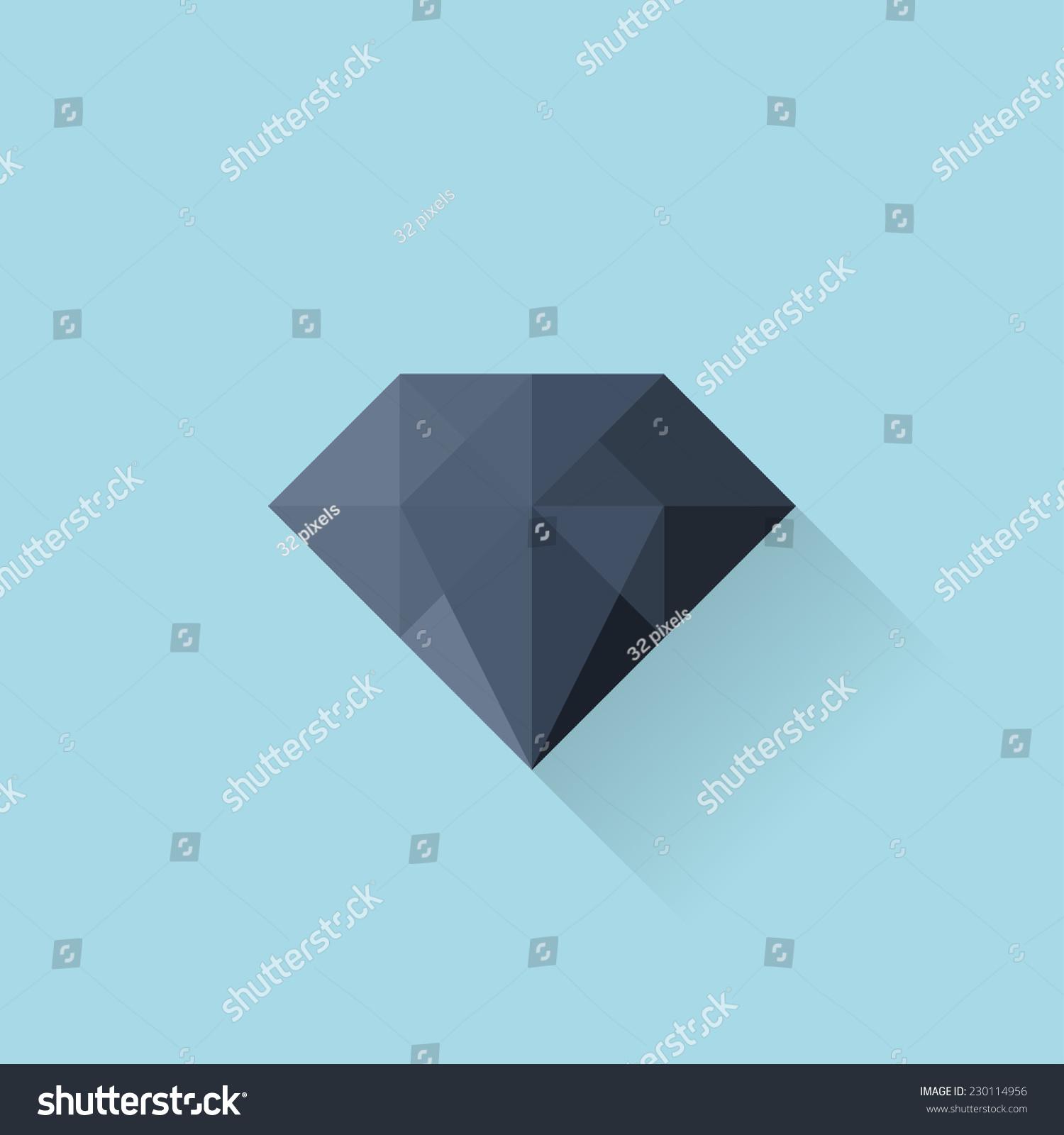 平网络图标.黑钻石