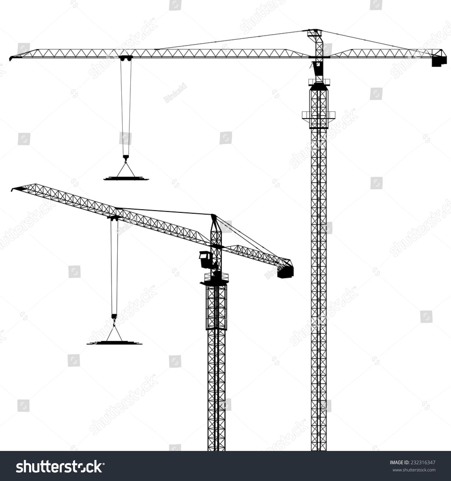 塔式起重机的轮廓矢量每股收益8-工业