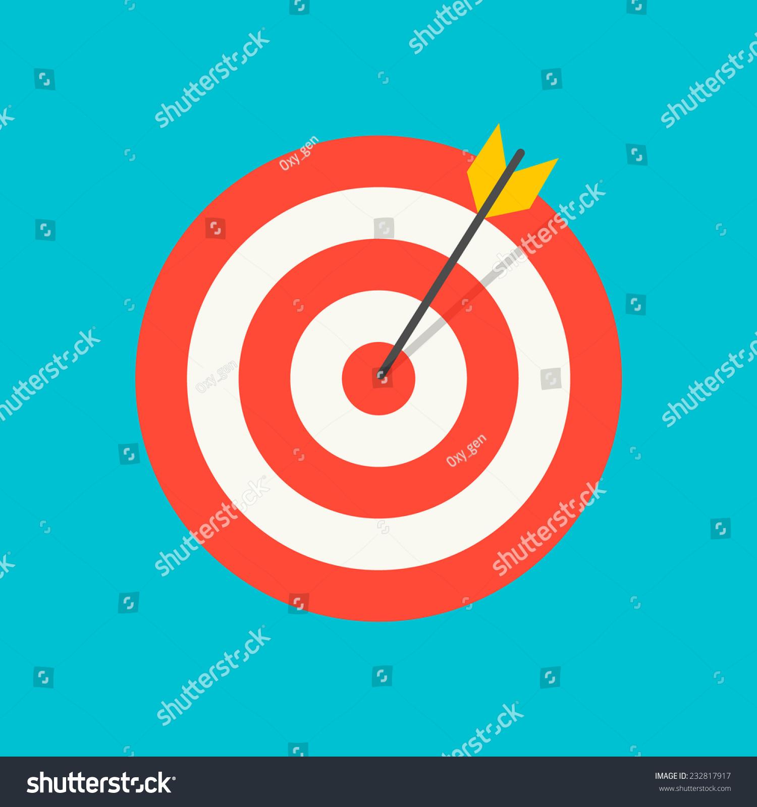 箭击中目标图标,矢量图-符号/标志,抽象-海洛创意()-.
