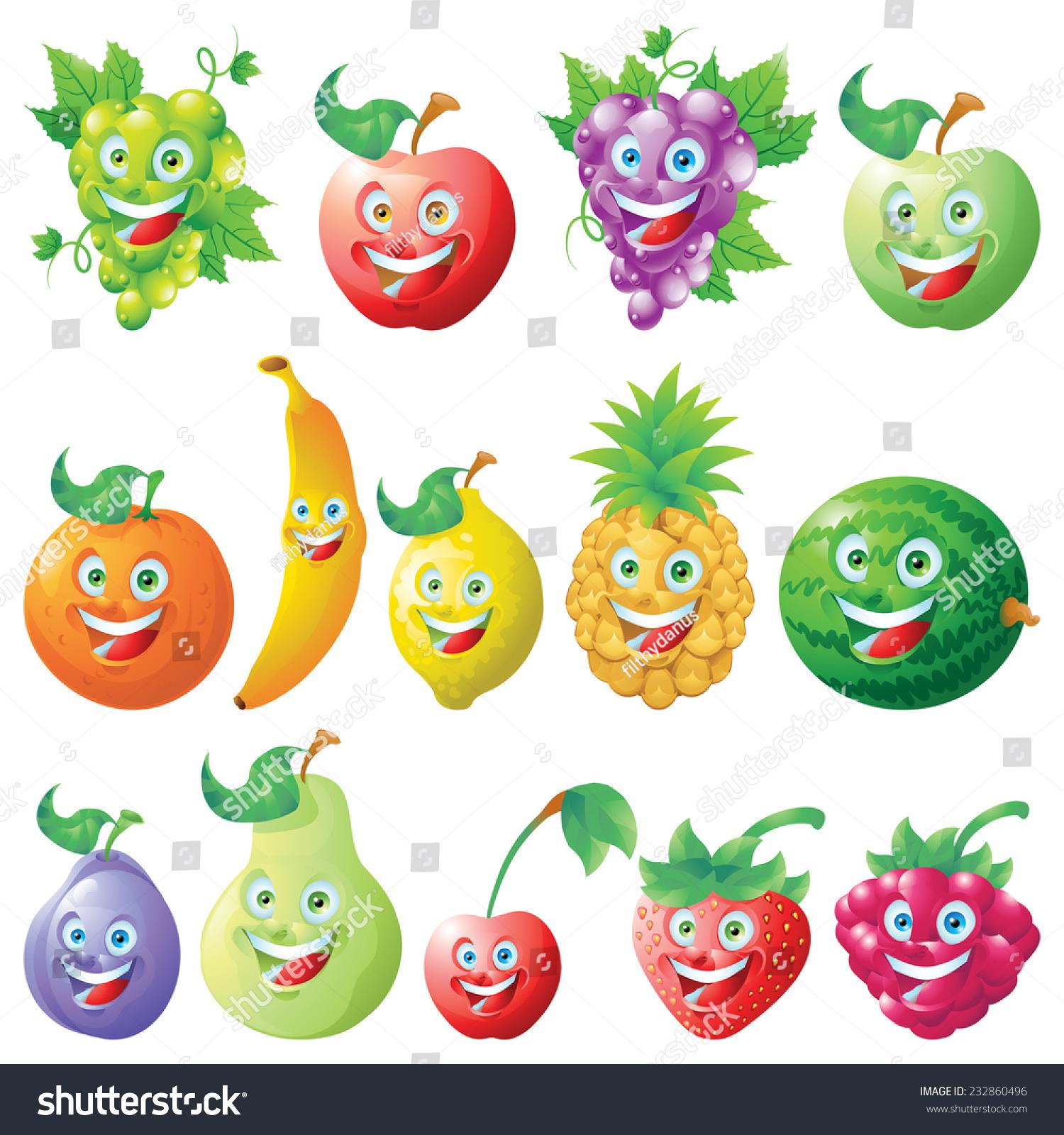 水果图标卡通人物-食品及饮料