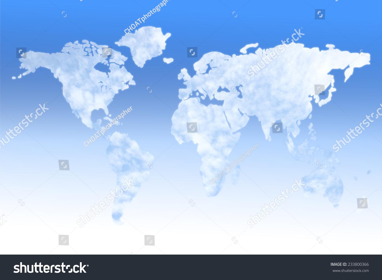 云世界地图-背景/素材,抽象-海洛创意(hellorf)-中国