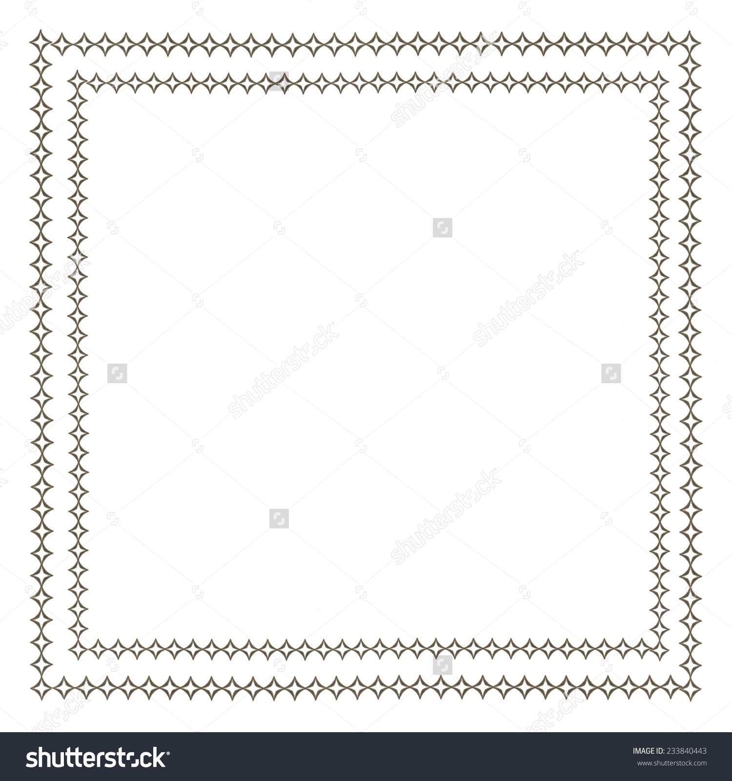 双排菱形镶边的白色-背景/素材
