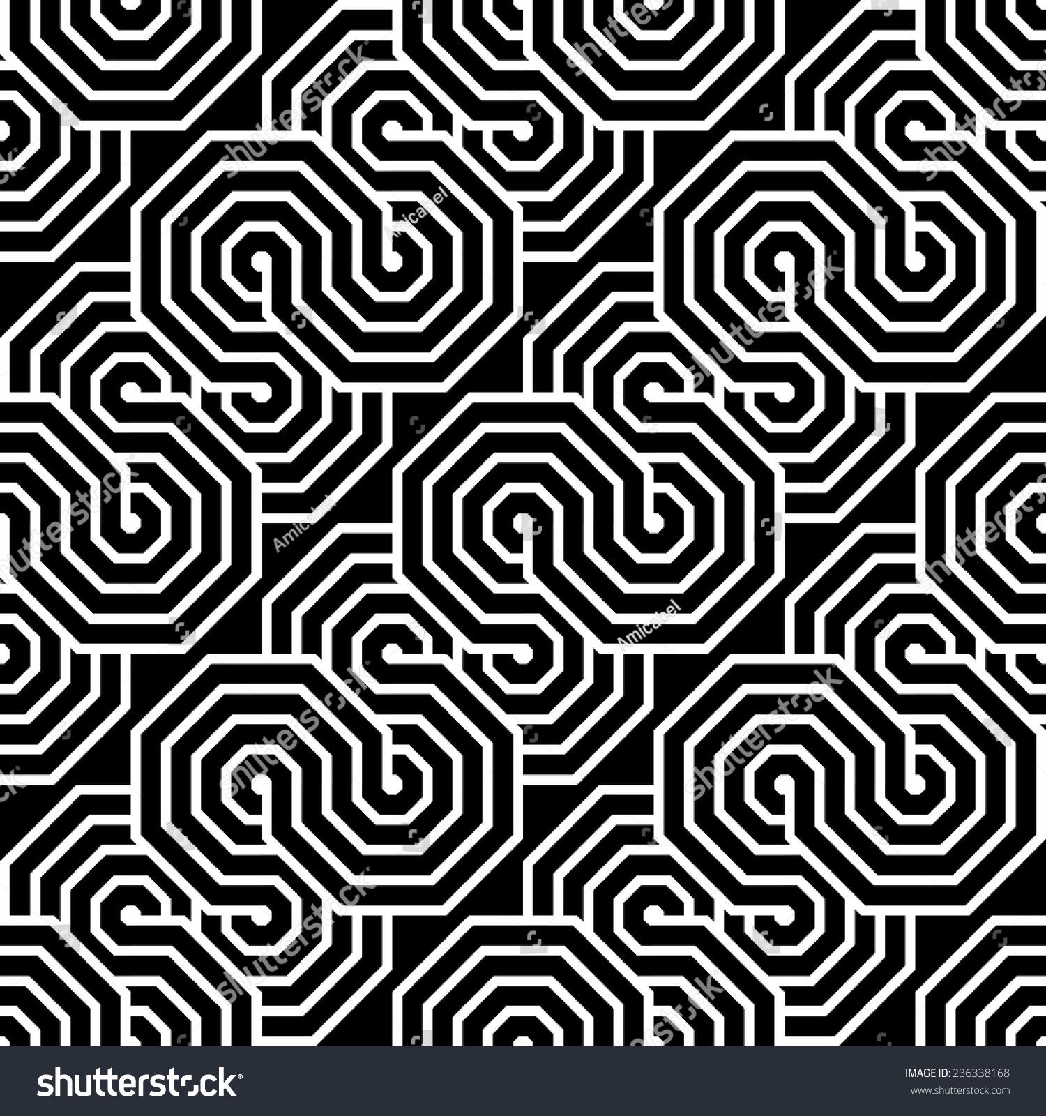 设计无缝单色锯齿形几何模式